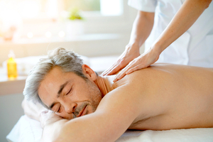 Man receiving massage in Sedona spa